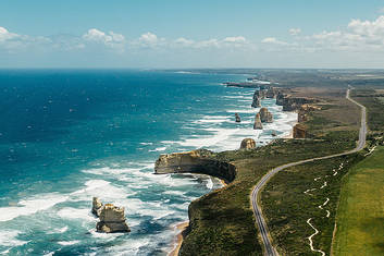 Great Ocean Road aerial photo