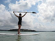 Stand Up Paddle Boarding in the Bay