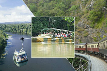 Kuranda Railway, Skyrail and Rainforestation Army Duck