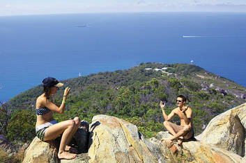 Summit of Fitzroy island