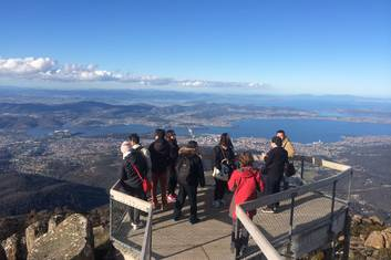 Views from kunanyi/Mt Wellington