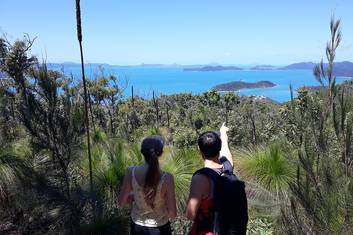 Enjoy Whitsunday island vista when you reach the summit