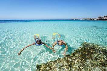 Snorkel in the beautiful crystal clear water