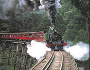 Puffing Billy Steam Train on the Trestle Bridge