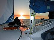 Sunset under sail