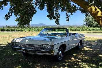 Our White '68 Chevy Impala Convertible