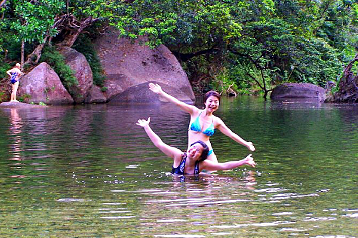 Swimming at Babinda Boulders