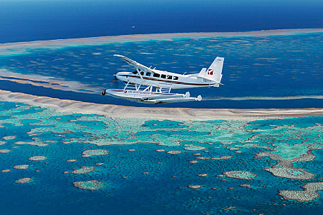 Soar over the Great Barrier Reef in a luxury seaplane