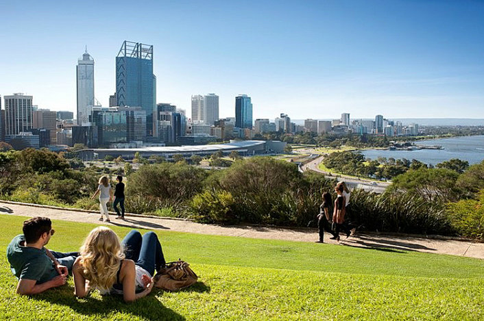Great city views from Kings Park