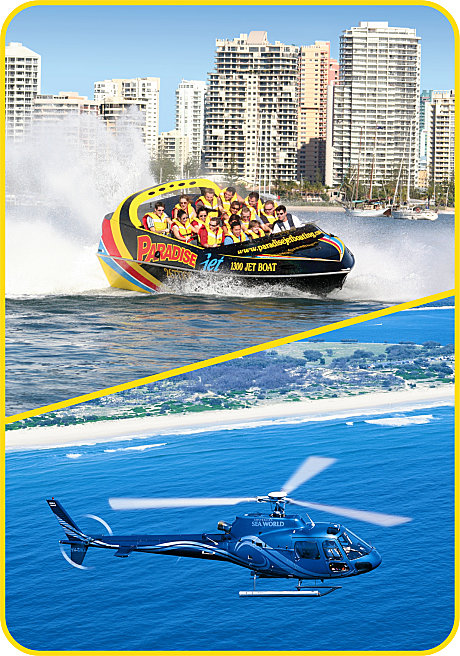 Jet Boat and Helicopter Combo