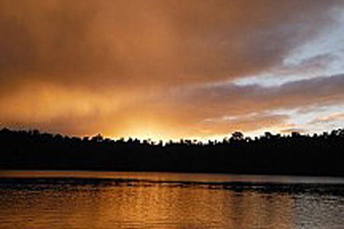 Sunset over Lake Eacham