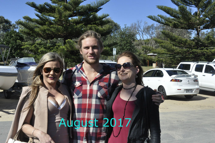 Ash with two tour guests