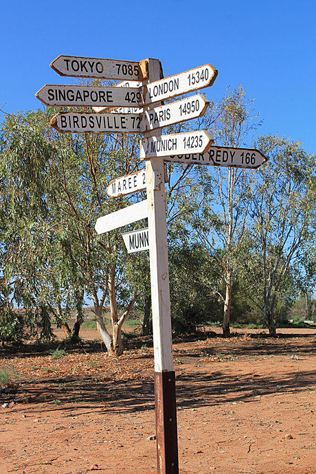 Signpost at William Creek