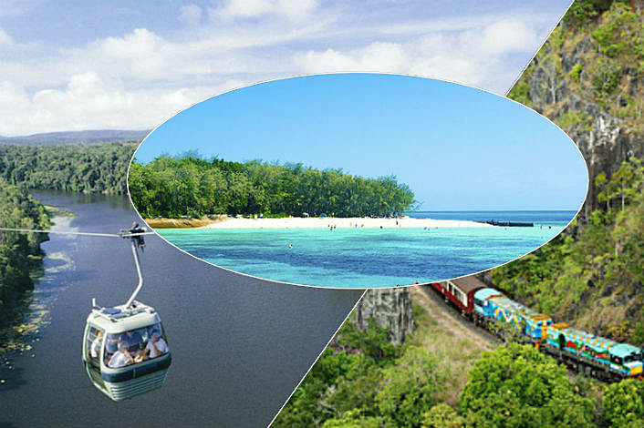 Skyrail, Kuranda Train and Green Island