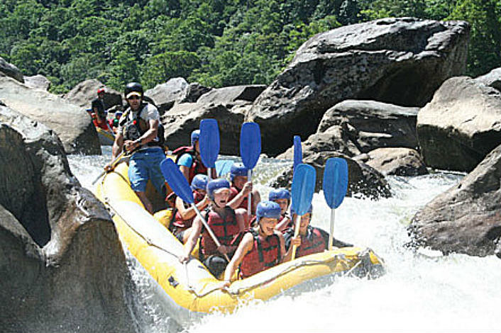 Rafting on the Barron River near Cairns