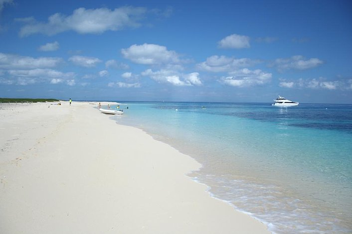 the beach at Michaelmas Cay