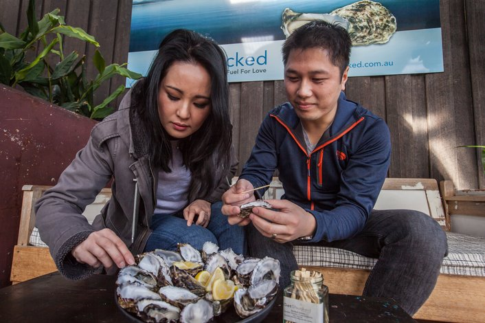 Freshly Shucked Oysters at Get Shucked Oysters