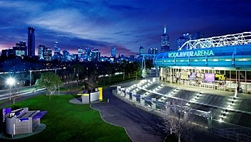 Rod Laver Arena at Night