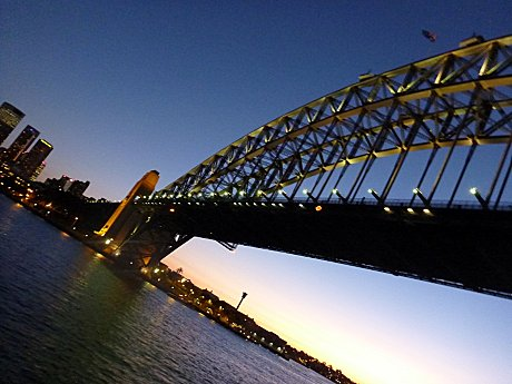 Under the Sydney Harbour Bridge
