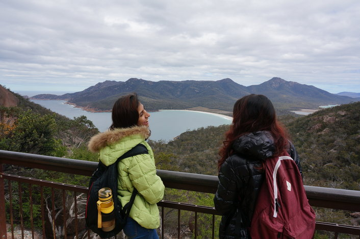 Wineglass bay lookout!