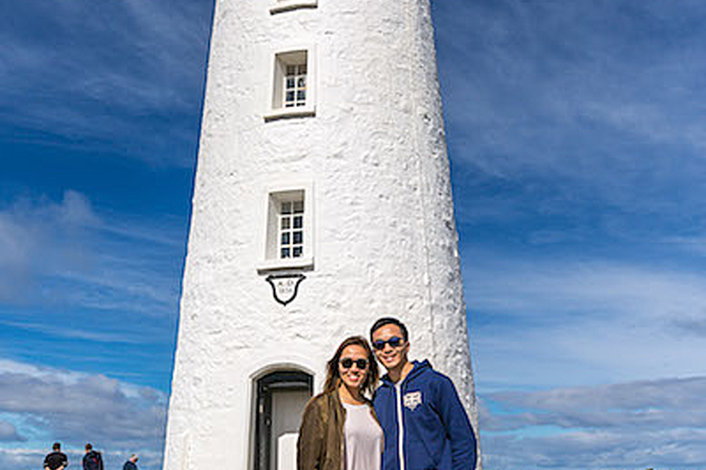 Cape Bruny Lighthouse. Great selfie opportunities.