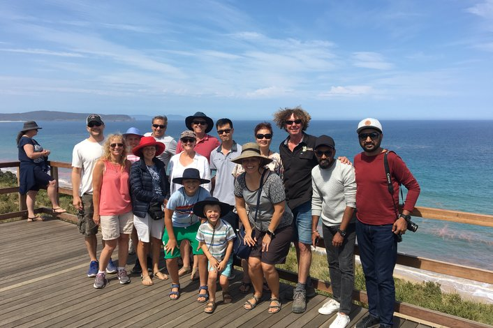 The Bruny Island Neck Lookout with Bruny Island Safaris. A fun tour for everyone.