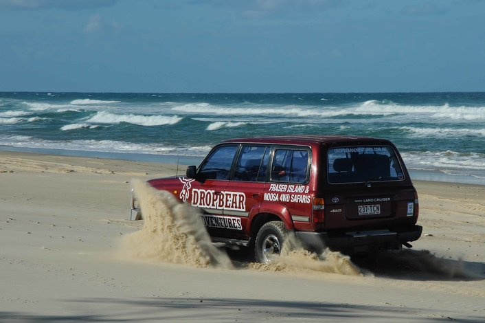 4WD along 75 mile beach!