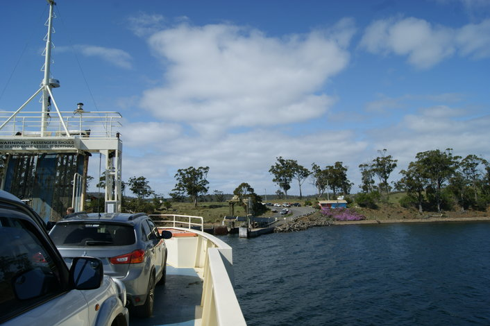 Ferry trip over to Bruny