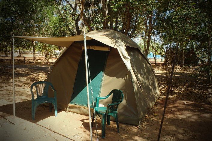 Permanent tent at Seisia - Cape York