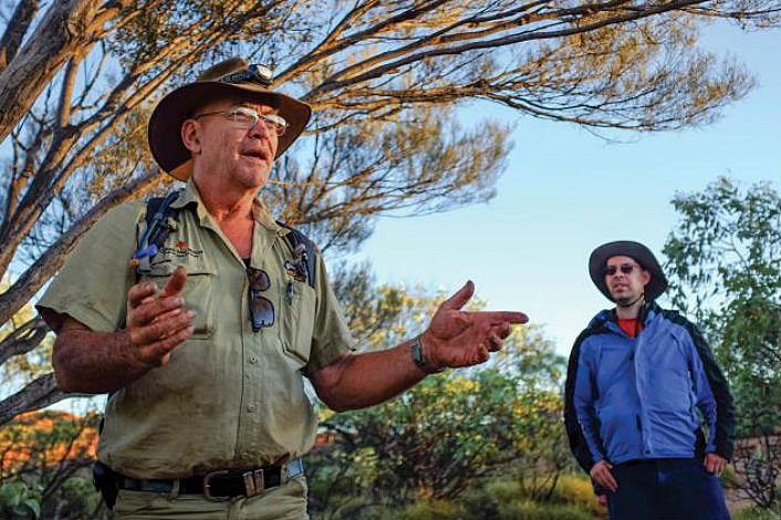 Tour guide at Kings Canyon