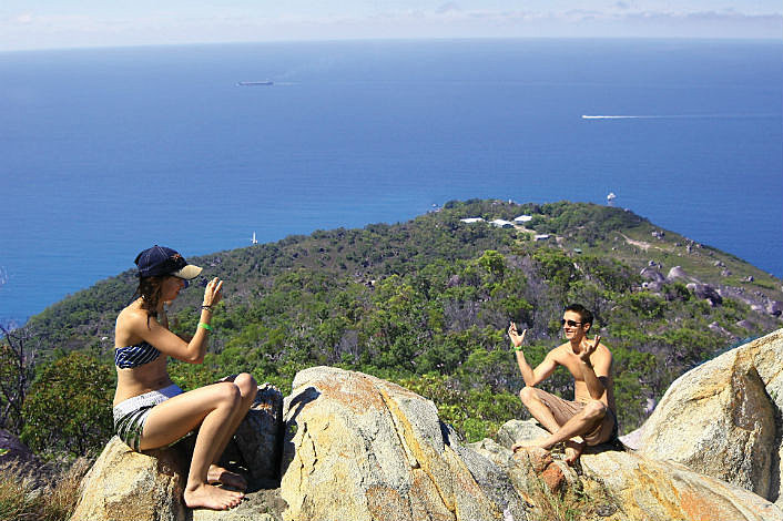 The summit on Fitzroy Island