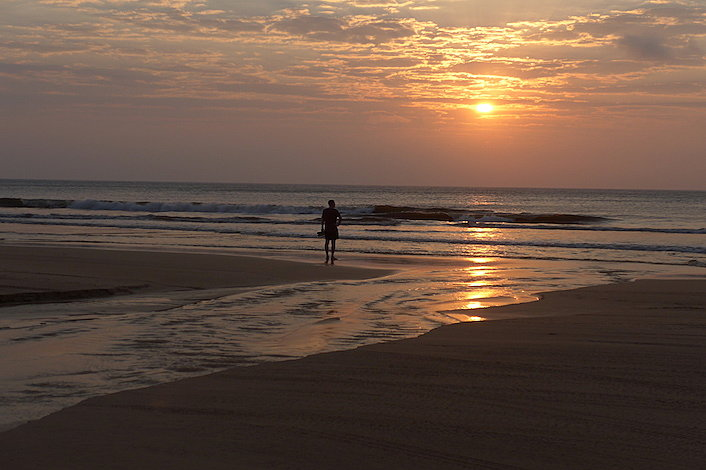 Sunset on Fraser Island