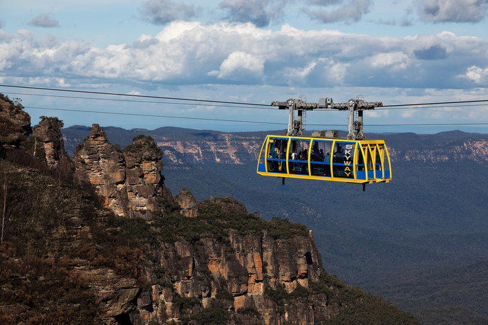 Optional Add-ons - Blue Mountains, Scenic Skyway part of Scenic World Katoomba, James Horan, Destination NSW