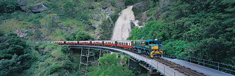 Kuranda Scenic Railway passing by Stoney Creek