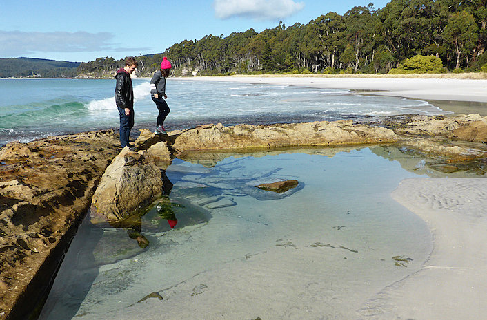 Reflections in the rock pools