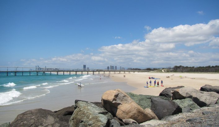 Best location for beginners on the Gold Coast, where the locals learn!