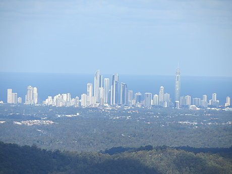 View of Gold Coast from Mt Tamborine