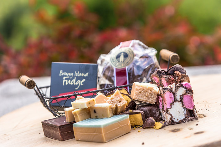 Bruny Island Fudge and Chocolate tastings included in your day tour