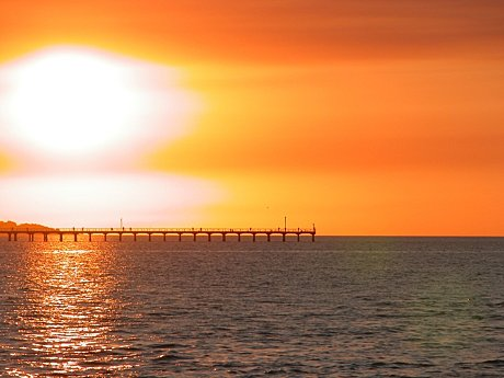 Sunset over the Urangan Pier