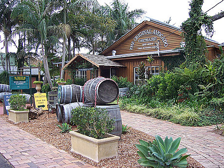 Locally produced wines at Mt Tamborine