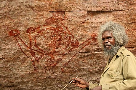 Aboriginal guided rock art tour, Injalak Hill, Arnhem Land