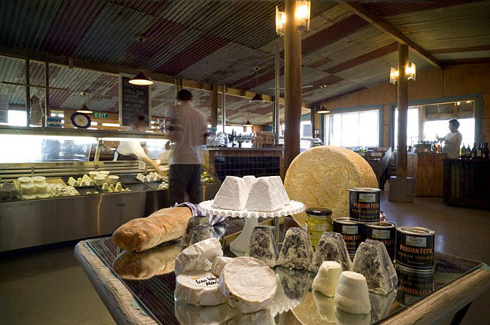 Enjoy a selection of cheese at Yarra Valley Dairy