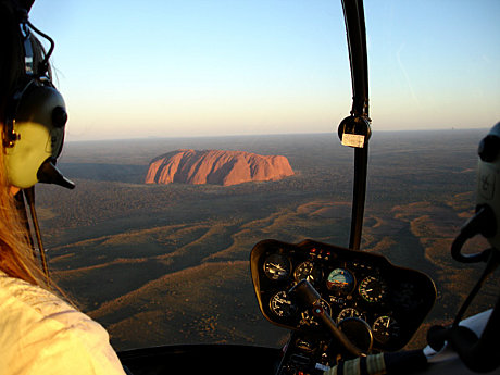 The Perfect birds-eye view of Uluru at sunset