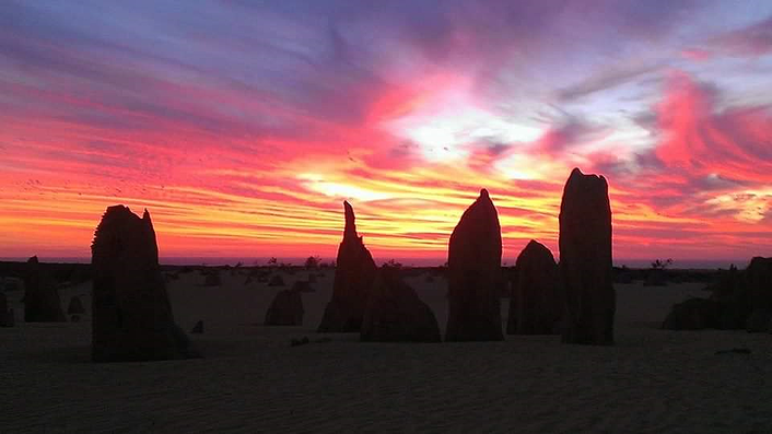Pinnacles sunset