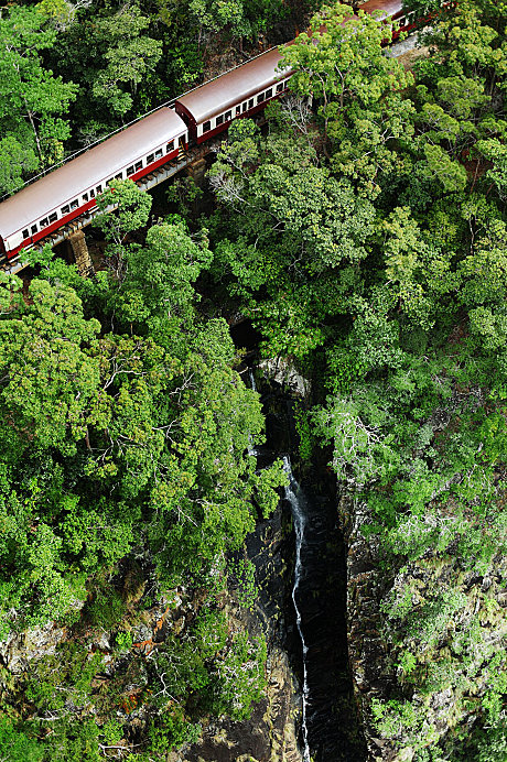 Kuranda Scenic Railway passing over Camp Oven Creek