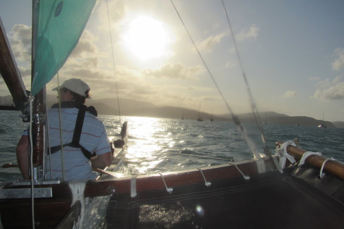 Sunset tour with Whitsunday Sailing Outrigger