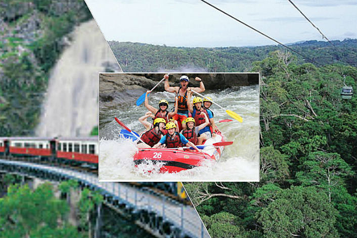 Rafting, Skyrail and Kuranda Train