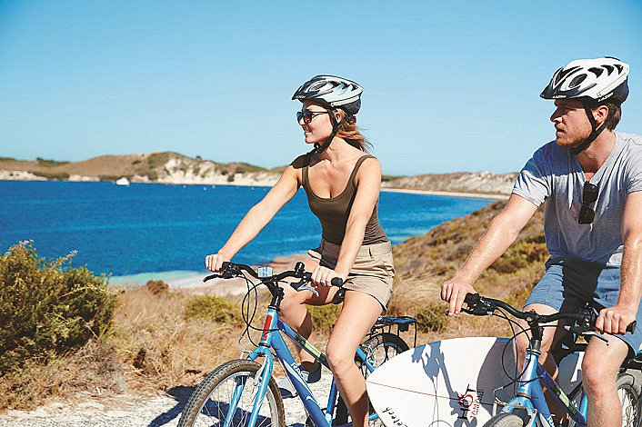 Cycling on Rottnest Island