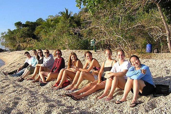 Tour group at Cape Tribulation