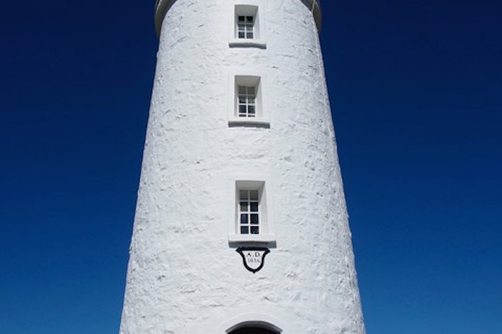 Cape Bruny Light house. Offers incredible view of the southern ocean and seas cliffs.